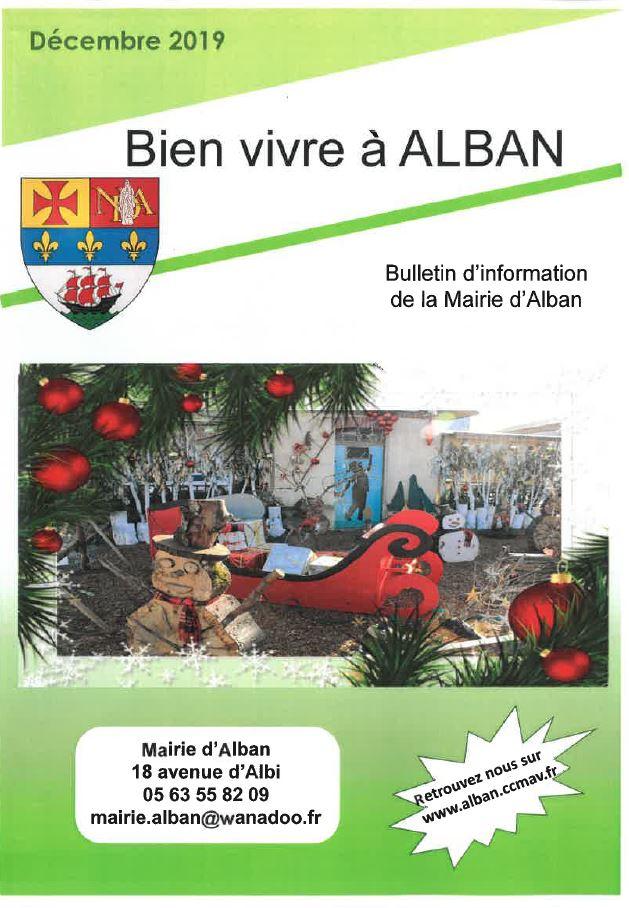 Bulletin d'information d'Alban Décembre2019