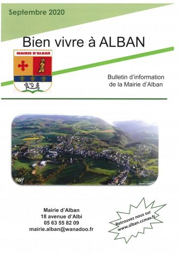 Bulletin d'information d'Alban Septembre 2020