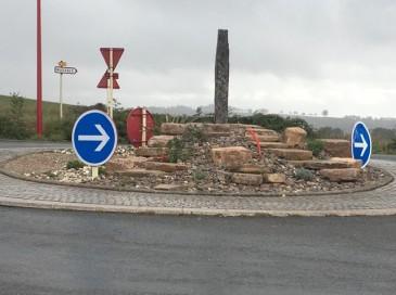 Réaménagement du rond-point du village